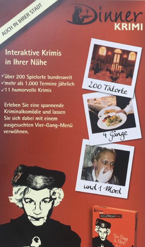Flyer Dinnerkrimi Aachen